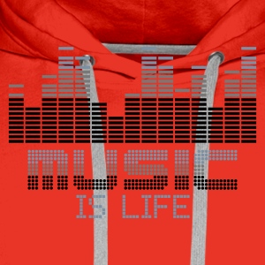 Rouge equalizer music is life T-shirts - Sweat-shirt à capuche Premium pour hommes