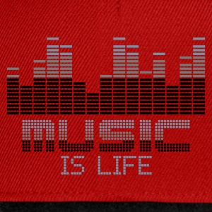 Rouge equalizer music is life T-shirts - Casquette snapback