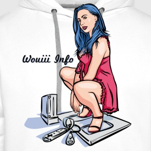 Blanc Pin Up Wii couleur T-shirts - Sweat-shirt à capuche Premium pour hommes