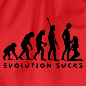 evolution_sucks_b_1c T-Shirts - Drawstring Bag