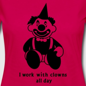 Pink i work with clowns all day 1 T-Shirts - Frauen Premium Langarmshirt