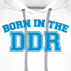 Weiß Born in the DDR T-Shirts - Männer Premium Hoodie