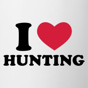 Weiß I Love Hunting T-Shirts - Tasse