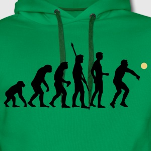Kelly green evolution_volleyball_b_2c Men's T-Shirts - Men's Premium Hoodie