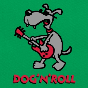 dog_n_roll_a_3c Magliette - Borsa retrò