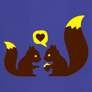 Sky squirrels in love - to give each other T-Shirts - Kochschürze