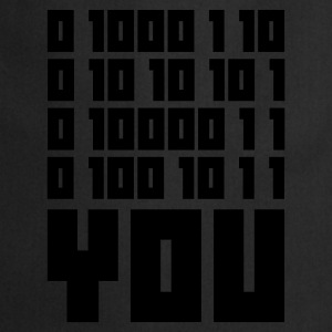 Indigo FUCK YOU - Binary code T-shirts - Förkläde