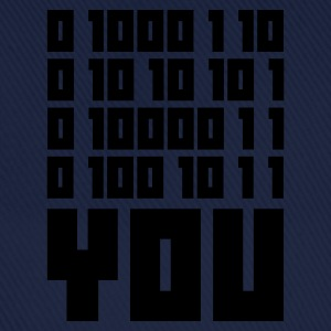 Indigo FUCK YOU - Binary code T-shirts - Baseballkasket