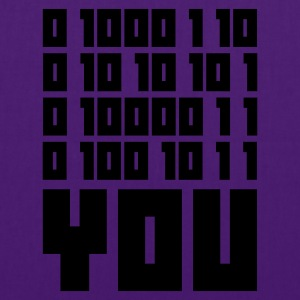 Indigo FUCK YOU - Binary code T-shirts - Tygväska