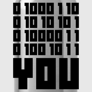 Mossgrön FUCK YOU - Binary code T-shirts - Vattenflaska