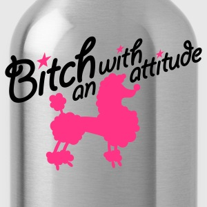 Roze Bitch with an attitude 2clr T-shirts - Drinkfles