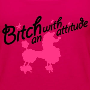 Roze Bitch with an attitude 2clr T-shirts - Vrouwen Premium tank top