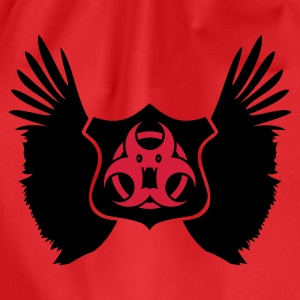 Rosso winged Biohazard Monster Emblem (2c) T-shirt - Sacca sportiva