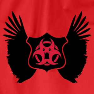 Rød winged Biohazard Monster Emblem (2c) T-skjorter - Gymbag