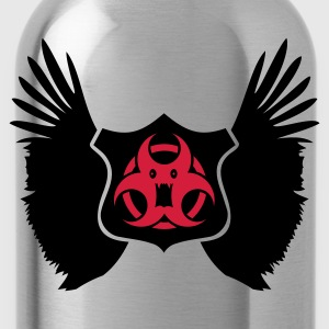 Rosso winged Biohazard Monster Emblem (2c) T-shirt - Borraccia