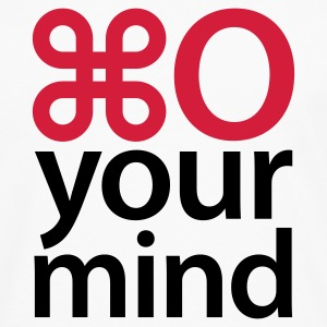 Weiß Open your mind © T-Shirts - T-shirt manches longues Premium Homme
