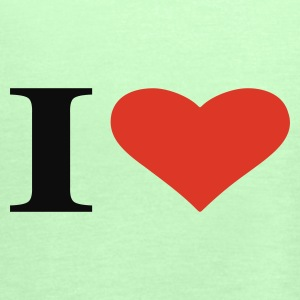 Verde erba i love T-shirt - Top da donna della marca Bella