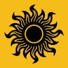 Yellow Black Hole Sun Women's T-Shirts - Women's Premium T-Shirt