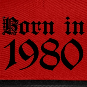 Rubinrot Born in 1980 T-Shirts - Snapback Cap