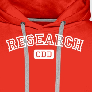 Rouge burgundy Research CDD blanc T-shirts - Sweat-shirt à capuche Premium pour hommes