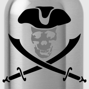 pirateskull_2c T-Shirts - Water Bottle