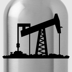 Noble brown Ölförderung / oil rig (1c) Men's T-Shirts - Water Bottle