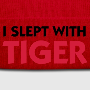 Rose clair I Slept with Tiger (2c) T-shirts - Bonnet d'hiver