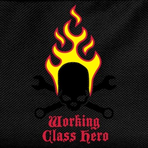 fire_skull_working_class_hero_b_3c T-skjorter - Ryggsekk for barn