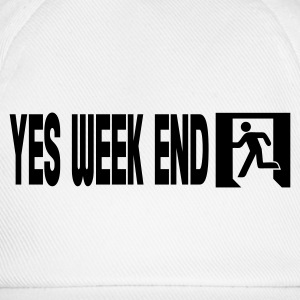 Wit yes week end T-shirts - Baseballcap