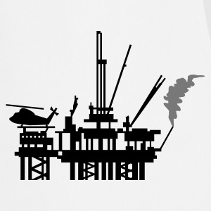 White Ölplattform / offshore oil rig (2c) Men's T-Shirts - Cooking Apron