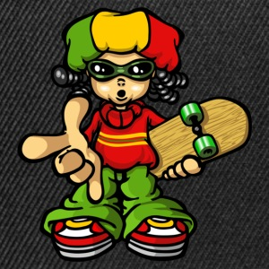rasta boy with skateboard - Casquette snapback