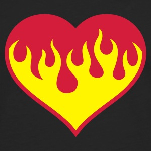 Black Flaming Heart Women's T-Shirts - Men's Premium Longsleeve Shirt