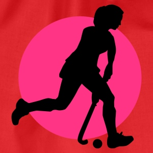 Rot hockey_woman_b_2c T-Shirts - Turnbeutel