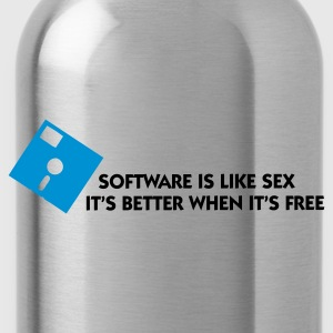 Hellrosa Software is like Sex 1 (2c) T-Shirts - Trinkflasche