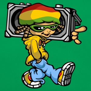 rasta boy with sound-system - Sac Retro