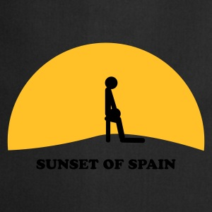 Zwart Sunset of Spain T-shirts - Keukenschort