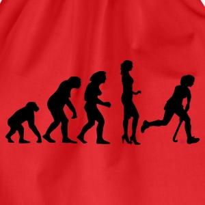 Red evolution_hockey_woman_a_2c Women's T-Shirts - Drawstring Bag