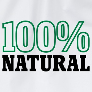 Weiß 100% Natural © T-Shirts - Sacca sportiva