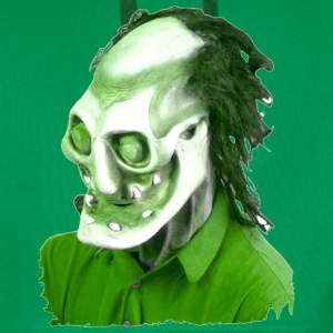 Kelly green Halloween Scary Head 5 Men's T-Shirts - Men's Premium Hoodie