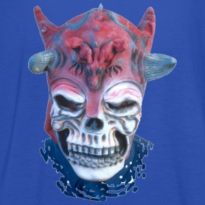 Sky Halloween Scary Head 12 Men's T-Shirts - Women's Tank Top by Bella