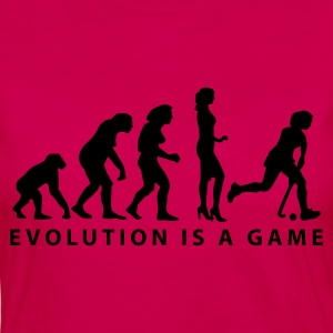 Pink evolution_hockey_woman_b_1c T-Shirts - Frauen Premium Langarmshirt