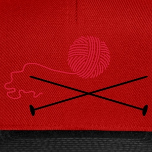 Rouge aiguille à tricoter laine / wool 'n knitting needle (2c) T-shirts - Casquette snapback