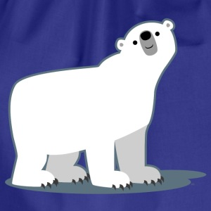 Sky Cute Cartoon Polar Bear by Cheerful Madness!! Men's T-Shirts - Drawstring Bag