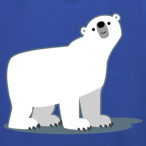 Sky Cute Cartoon Polar Bear by Cheerful Madness!! Men's T-Shirts - Kids' Premium Hoodie