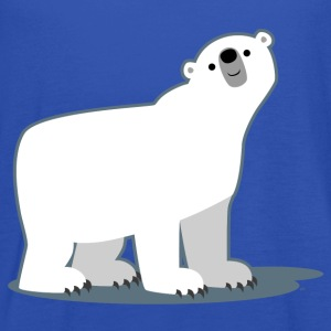Sky Cute Cartoon Polar Bear by Cheerful Madness!! Men's T-Shirts - Women's Tank Top by Bella