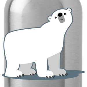 Sky Cute Cartoon Polar Bear by Cheerful Madness!! Men's T-Shirts - Water Bottle