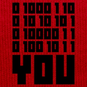 Jaune FUCK YOU - Binary code T-shirts - Bonnet d'hiver