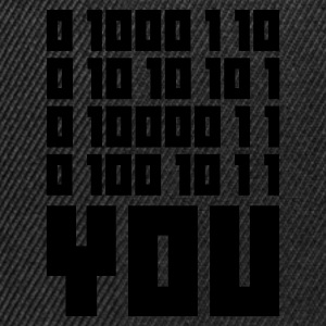 Olijfgroen FUCK YOU - Binary code T-shirts - Snapback cap
