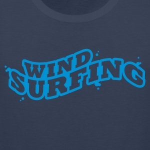 Windsuring - surfen Typo Outline T-Shirts - Men's Premium Tank Top