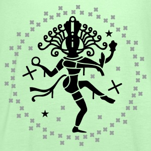 Forest green shiva Men's T-Shirts - Women's Tank Top by Bella